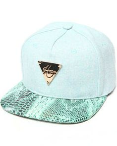 5340a5475aac4 Flannel Teal Snake Brim Strapback Cap by Hater Snapback   DrJays.com Nice  Caps