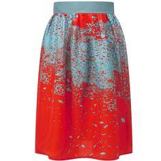 SARA C - Red Bloss Skirt