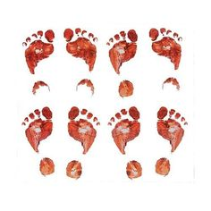 Halloween Bloody Footprints Decoration Scary Home Bits Realistic Themed Party for sale online Fun Express, Footprints, Party Themes, Rooster, Scary, Halloween, Decoration, Recipes, Decor