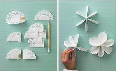 Papír tortacsipke dekoráció