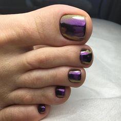 Nice toenails pedicure ideas toe nail designs, summer toe na Purple Toe Nails, Purple Toes, Pretty Toe Nails, Toe Nail Color, Summer Toe Nails, Cute Toe Nails, Toe Nail Art, Nail Polish Colors, Glitter Toe Nails