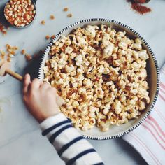 Spicy-Sweet Shichimi Togarashi Popcorn | Turntable Kitchen