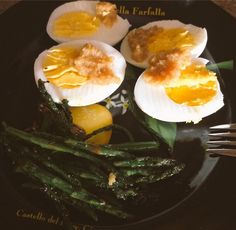 Morning Fluster! This delicious dish is brought to you by Kiki's Flustered Mustard. Some hard boiled eggs and sautéed asparagus topped with that mouth happy maker we all know and love, #kikisflusteredmustard ! Thursday morning = tastebud delight! www.kikisflusteredmustard.com