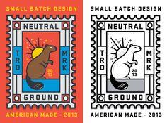 Neutral Ground Stamp by nicholas slater, via Behance