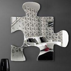 "Graham & Brown Acrylic Shaped Mirror - Jigsaw Mirror - 16"" X 16"" - 42928 - All Wall Art - Wall Art & Coverings - Decor"