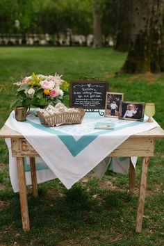 Vintage Guest Book Table                                                                                                                                                     More