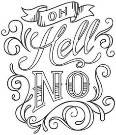 Sewing quotes printables urban threads ideas for 2019 Skull Coloring Pages, Love Coloring Pages, Printable Adult Coloring Pages, Coloring Books, Coloring Stuff, Coloring Sheets, Swear Word Coloring Book, Oldschool, Cricut