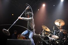 Cedric Bixler-Zavala of At The Drive-In performs on stage at Splendour In The Grass on July 27 in Byron Bay, Australia. (Matt Roberts/Getty Images) #