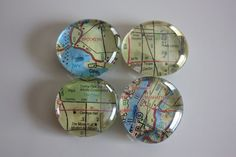 Summer Crafts: Marble Magnets. I found my clear glass flattened 'marbles' at Dollar Tree.