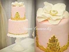 Gâteau de Mariage Rose mignon Wedding Cake