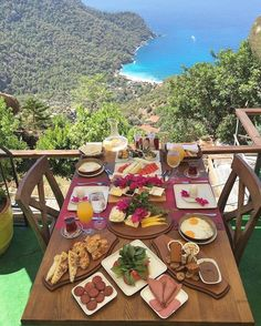 Dünyanın en güzel manzaralarından biri lissiya hotel'in terasından… Kabak… One of the most beautiful views of the world from the terrace of lissiya hotel … Our view of Kabak Bay Koyu Good Morning from Kabak Bay✌️ ☎️ Turkish Breakfast, Breakfast In Bed, Wonderful Places, Beautiful Places, Beautiful Days, Places To Travel, Places To Go, Turkey Travel, Istanbul Turkey