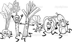 Running Vegetables Cartoon For Coloring Free Black, Black And White, Vegetable Cartoon, Vector Photo, Vintage Embroidery, Displaying Collections, Sign Quotes, Painted Signs, Big And Beautiful