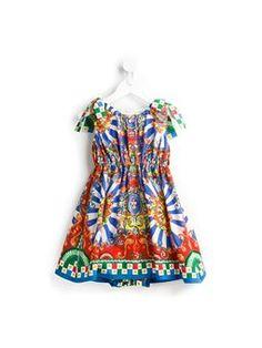Carretto Siciliano print dress