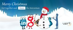 Merry Web #Christmas! Share the #Snowman! #webchristmas #christmasgreetings #smm