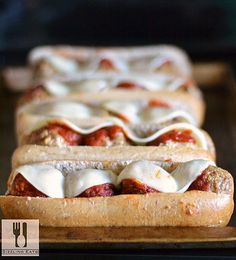 Oven-Baked Turkey Meatball Subs. Get the recipe for some moist and flavorful turkey meatballs.