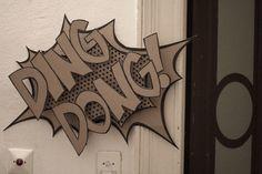 art Typography words design comics Installation