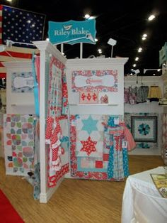 Simply Dressed in the Riley Blake Booth at Houston Quilt Market