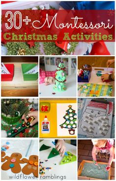 christmas activities I am excited to bring to you Montessori Christmas Activities today! A chance to invite the child to succeed, to probe the child to create and learn, to respe Christmas Activities For Kids, Preschool Christmas, Toddler Christmas, Noel Christmas, Winter Activities, Christmas Themes, Holiday Crafts, Holiday Fun, White Christmas