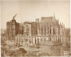 Bau am Kölner Dom, 1855 Salzpapier, Foto: Johannes Franciscus Michiels | © Sammlung Dietmar Siegert