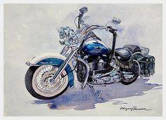 watercolor painting bikeforjan