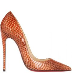 Christian Louboutin  120 watersnake pumps