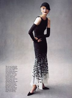 Kylie Bax in Chanel by Steven Meisel for Vogue December 1996