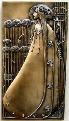 Charles Rennie Mackintosh Art Nouveau wall plaque You slayed me with one brazen glance, demure and subtle but devastating to me my darling. Charles Rennie Mackintosh, Azulejos Art Nouveau, Art Nouveau Tiles, Bijoux Art Nouveau, Art Nouveau Jewelry, Alphonse Mucha, Design Art Nouveau, Jugendstil Design, Modernisme