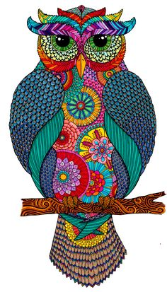 Owlmazing - Owl By Hello Angel Abstract Counted Cross Stitch Kit Owl Art, Bird Art, Art Doodle, Posca Art, Painting & Drawing, Bunt, Art Drawings, Art Projects, Canvas Art