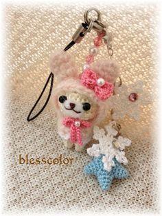 DIYお花台チェア*雪のうさちゃん♪ の画像|*blesscolor* あみぐるみと3匹のコブタ
