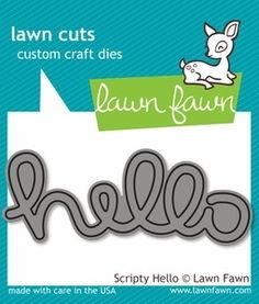 Lawn Fawn SCRIPTY HELLO Lawn Cuts Dies Preview Image