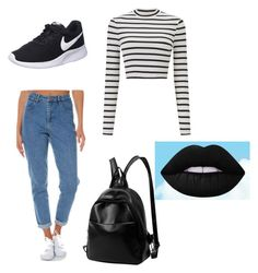 """""""school outfit"""" by tom-rrukaj on Polyvore featuring Wrangler, Miss Selfridge and NIKE"""