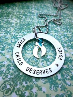 Every Child Deserves A Voice Necklace - Apraxia Awareness & Support - Apraxia of Speech - Option to Create Your Own