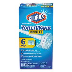 Bath Brushes and Sponges: Clorox Disinfecting Toiletwand Refill Heads Blue White 14882Ct -> BUY IT NOW ONLY: $35.15 on eBay!