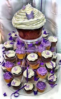 cupcakes: HDR Wedding Cake - Beautiful Purple and White Chocolate Cupcakes