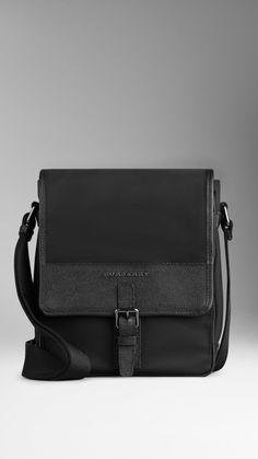 Leather Trim Crossbody Bag | Burberry