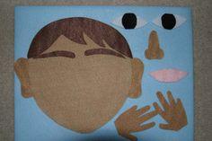 """5 Senses"""" Children Story Flannel board Felt set"""