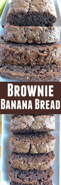 This brownie banana bread starts with a brownie mix and is only 5 ingredients! It will cure any chocolate craving!