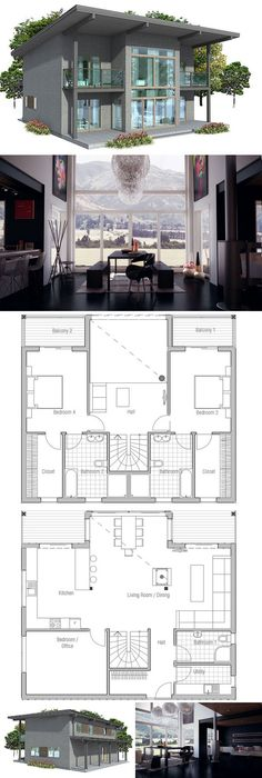 House Plan. Three bedroom floor plan
