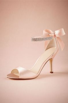 Crystal Bow Heels in Shoes & Accessories Shoes at BHLDN