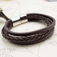 Aliexpress.com: Buy A & N Men's Bracelets & Bracelets Gift Black Leather Jewelry / Brown Hand-knitted Multi-layer Vintage Bracelet Jewelry Bracelets from mens leather bracelets reliable suppliers at TL Store