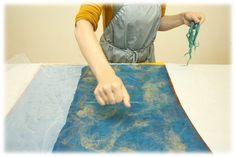 Делаем валяный жилет с аппликацией из шелка «Лоскутная мозаика» - Ярмарка Мастеров - ручная работа, handmade
