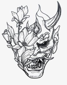 Japanese Tattoo Art, Japanese Tattoo Designs, Tattoo Design Drawings, Tattoo Sketches, Alien Tattoo, Demon Tattoo, Hannya Tattoo, Old School Tattoo Designs, Tattoo Hals