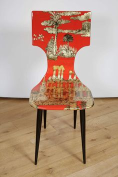 'Coromandel' Chair by Fornasetti   From a unique collection of antique and modern chairs at https://www.1stdibs.com/furniture/seating/chairs/