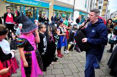 Freaky Friday in Weymouth town centre on October Fancy Dress competition in New Bond Street. October Half Term, Street 2015, Fancy Dress Competition, Bond Street, Graham, Schools, 30th, Centre, Friday