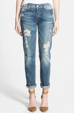distressed boyfriend jeans @nordstrom