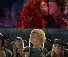 Astrid and the gang get shocked about Hiccup with Merida's love for each other. Go Mericcup and Go Awwwaaaaayyyy Hiccstrid