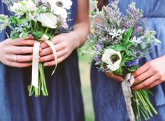 denim dresses with flower bouquet images | INSPIRATION: A Denim Wedding II - Once Wed