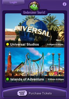Purchasing tickets to your favorite theme parks with your smart phone has never been easier!
