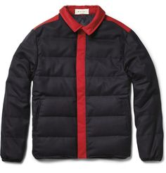 Marni Wool-Blend Quilted Jacket | MR PORTER