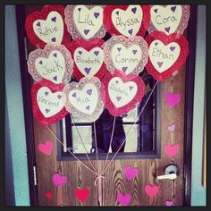 My valentines day door, I had to come up with an idea in 10 mins to make and put it up, this is what I got haha. I think it's cute for my classroom! Cute Valentine Ideas, Saint Valentine, Valentines Day Party, Valentine Decorations, Preschool Valentine Crafts, Valentines Day Activities, Craft Activities, Crafts For Kids, Children Activities